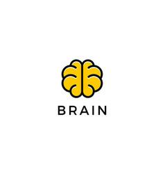 brain logo design concept vector image