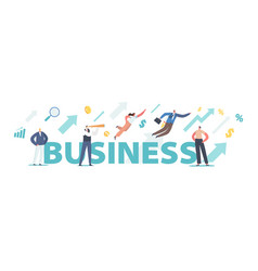 business concept successful leadership financial vector image