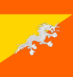 butane flag flat style vector image