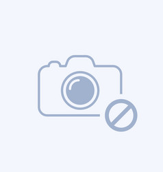 Camera icon with not allowed sign vector