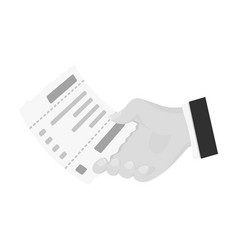 Check in hand e-commerce single icon in vector