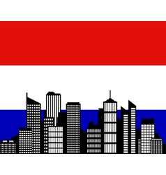 City and flag of the Netherlands vector image vector image