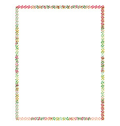 colored frame with dots vector image