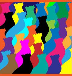 colorful cat collage vector image