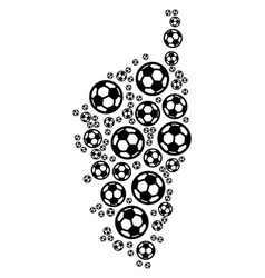 Corsica france island map composition of soccer vector