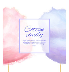 cotton candy banner with sweet floss spun sugar vector image