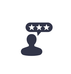 Customer reviews feedback icon vector