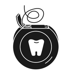 daily dental floss icon simple style vector image