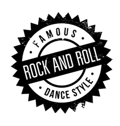 Famous dance style Rock and Roll stamp vector
