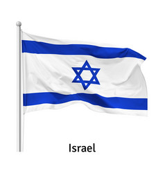 flag state israel vector image