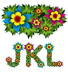 Flowers alphabet 04 vector