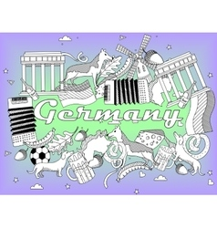Germany coloring book vector