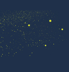 Graffiti tiny specles sprayed in yellow on blue vector