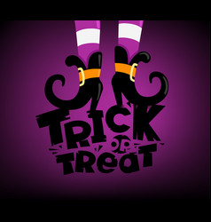 happy halloween greeting card trick or treat vector image
