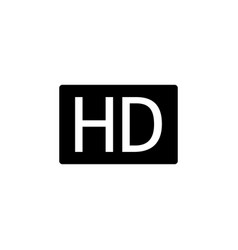 hd iconhd icon in trendy flat style isolated on vector image