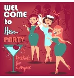 Hen party Women vector