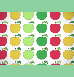 Horizontal card pattern with cartoon colorful vector