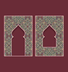 Indian arched frames in form traditional door vector