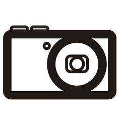 Isolated camera outline vector