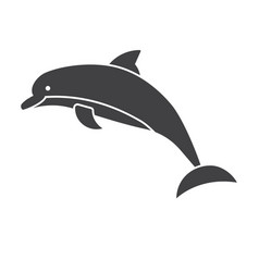 Jumping dolphins icon vector