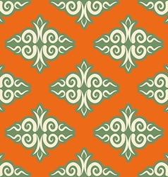 Kazakh pattern Traditional national background of vector