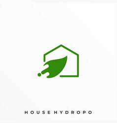 leaf hose design template vector image