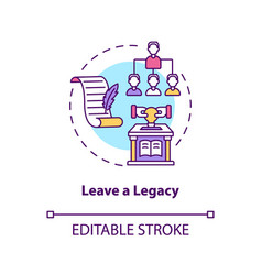 Leave a legacy concept icon vector
