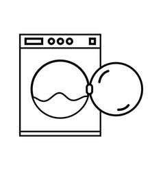 line plumbing washing machine pipe service repair vector image