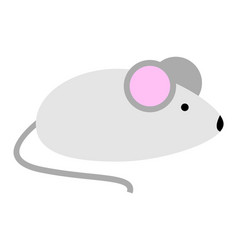 little cute mouse with pink ears vector image