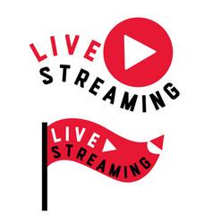 live stream flag shape vector image