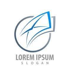logo concept design circle envelope symbol vector image