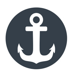 Marine anchor symbol vector
