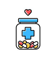 Medical aid color icon nursing service vector