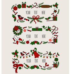 Merry christmas grreting card vintage invitation vector