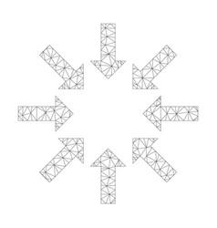 Mesh collapse arrows icon vector