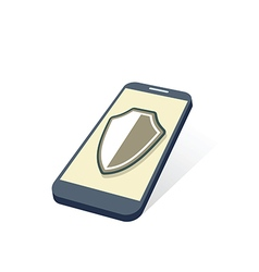 mobile device security vector image