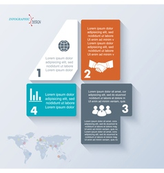 Number 4 template infographic vector image