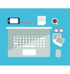 Office flat notebook vector