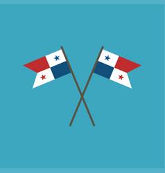 Panama flag icon in flat design vector