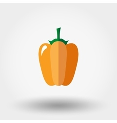 Paprika icon Flat vector