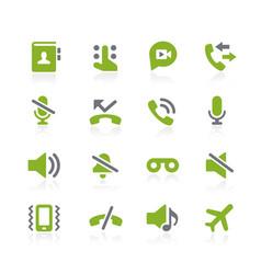 Phone calls interface icons natura series vector