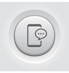 Phone Message Button Design vector