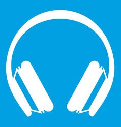 Protective headphones icon white vector
