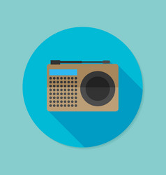 Radio flat icon with long shadow eps10 vector