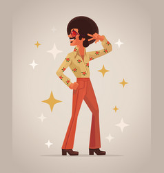 Retro disco dancer character vector