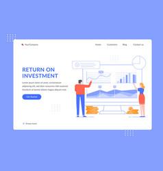 return on investment roi analytics people vector image