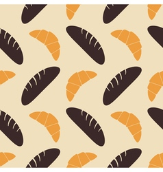 Seamless background with bakery vector image