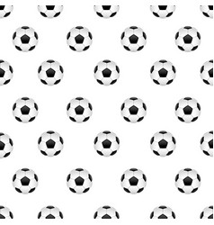 seamless pattern with football ball vector image