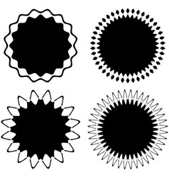 set of 4 different geometric circular elements vector image