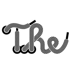 shoe lace the vintage symbol vector image